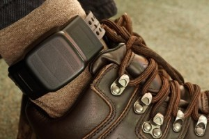 a photo of an ankle monitor