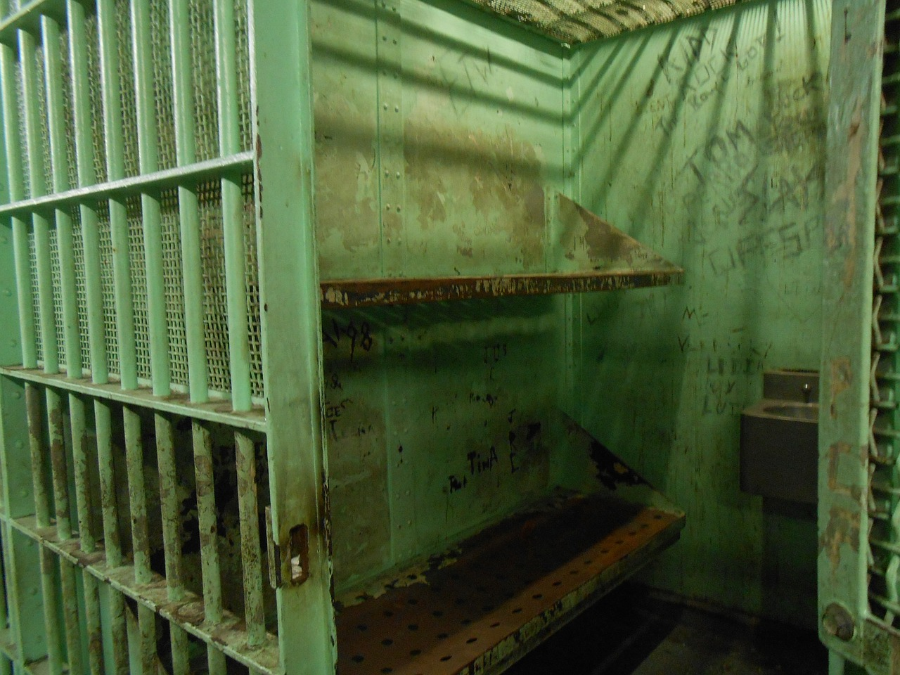 Photo of jail, holding cell, prison