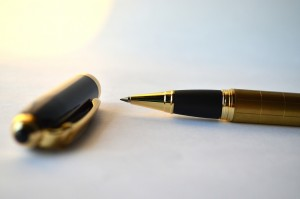 Photo of signature pen